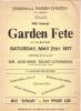 Cromhall Church Garden Fete poster, 1977
