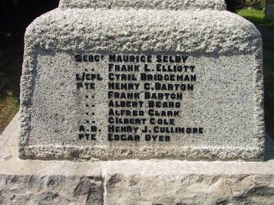 Cromhall war memorial